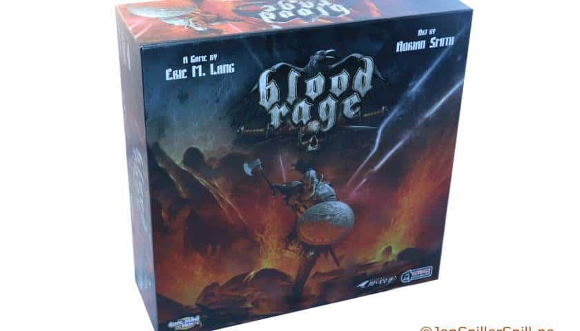 Blood Rage Brettspill med strategiske vikinger